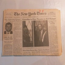 The New York Times 1996 December 19 Guerrillas Peru Hostages Edwin Pitts ND - $39.99