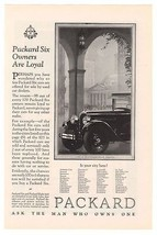 1925 Packard Six Automobile Car Auto Loyal Owners Original Ad Advertisem... - $12.59