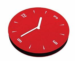 thehaki Sandwich Interior Felt Non-Ticking Analog Wall Clock Red