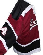 Custom Name # Boston Braves Retro Hockey Jersey 1970 New Maroon Any Size image 3