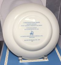"Dashing through the snow Christmas 1979 Avon 8.5"" plate in box Wedgwood England image 3"