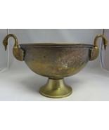 Vintage brass bronze planter candy dish art India EPNS barock rokoko swan - $180.00