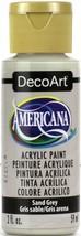 Americana Acrylic Paint 2oz-Sand Grey - $6.46