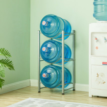3 Tier Water Cooler Jug Rack Water Bottle Carrier Storage Rack Shelf Det... - $42.56