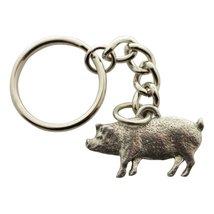 Pig Keychain ~ Antiqued Pewter ~ Keychain - $9.99