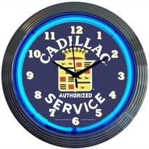 "Cadillac Service Licensed Neon Clock 15""x15"" - $69.00"