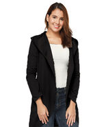 Women's Fashion Long Sleeve Open Front Lapel Collar Hoodie Cardigan Coat - $24.99