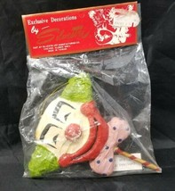 Vintage Silvestri Clown Christmas Tree Ornament New in Unopened Package ... - $12.21