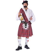 Fun World Men's Plus Size Big Shot Scot Costume, Multi, Plus Size - $64.37