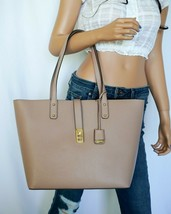 NWT MICHAEL KORS KARSON LARGE CARRYALL TOTE GRAINED LEATHER BAG FAWN - $74.24
