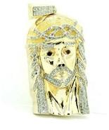 Men's 14k Solid Yellow Gold Heavy Diamond Jesus Head Pendant 3.00 ct #21... - $4,257.00