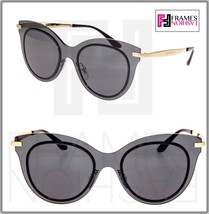 Dolce & Gabbana 2172 Gold Black Mirror Cat Eye Shield Sunglasses DG2172 ... - $212.85