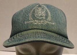 Vtg Denim UPS Snapback Cap Hat United Parcel Service USA Light Blue Empl... - $32.71