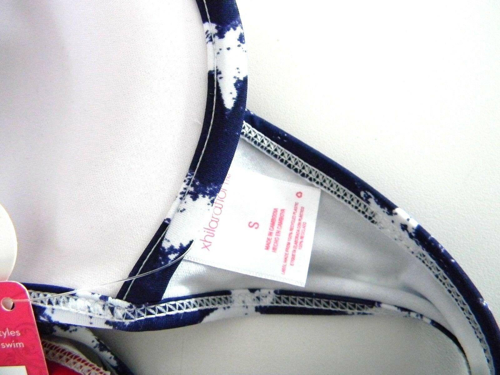 Xhilaration Size S Bikini Swim Top Red White & Blue Pattern Womens Swim Top NEW