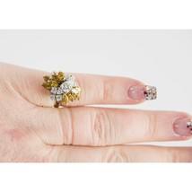 14k Gold Fancy Yellow Canary White Diamond 4.25 cttw Custom Antique Ring 5.5 - $6,880.50