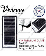 NEW! Vivienne Extension Eyelashes Curle С Thickness 0.07 0.05   20 lines - $59.99