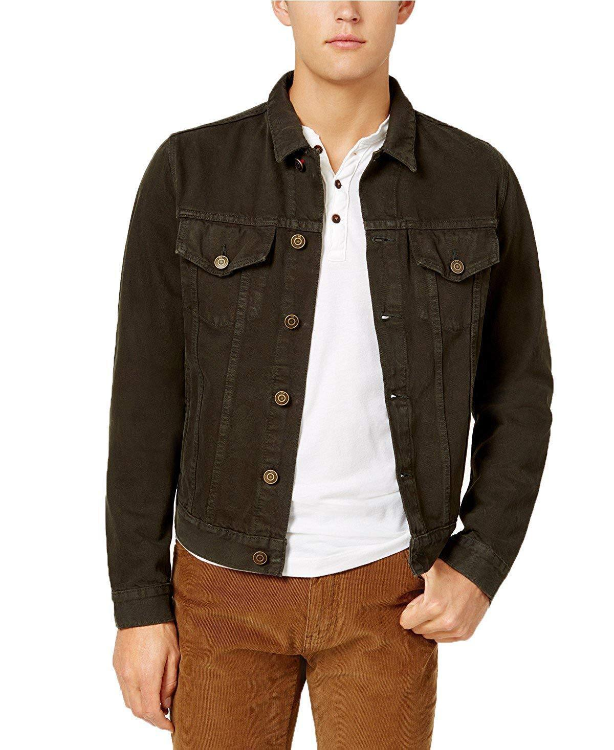 Primary image for Tommy Hilfiger Men's Garment Dyed Denim Jacket (XL, Dark Brown) 3281-4
