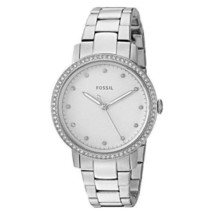 Fossil ES4287 Women's Neely Watch Silver Tone with Bling NWT $115 - ₨4,553.31 INR