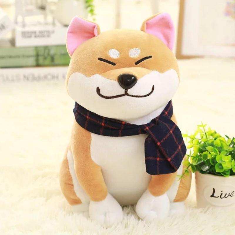 Brow- Shiba Inu Dog Doll Plush Stuffed Fur Curly Toy Cute Puppy Japan Gifts Kid - $17.50