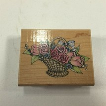 Stampede Romantic Flower Basket Theme Rubber Stamp A803E - $8.99