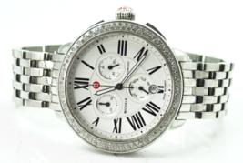 Michele Chronograph Calendar .60ctw 100 Diamond Wristwatch 41mm MW21A01A1966 - $890.99