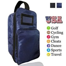 Amy Sport Golf Shoe Bag Zippered Sports Travel Shoes Case with Outside Pocket Pa