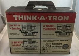 Hasbro Think-A-Tron vintage computer toy game from 1960s Trivia Quiz Kno... - $28.45