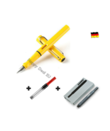 Lamy Safari Yellow Fountain Pen F Nib with Free Converter + 5 black T10 ink - $24.23