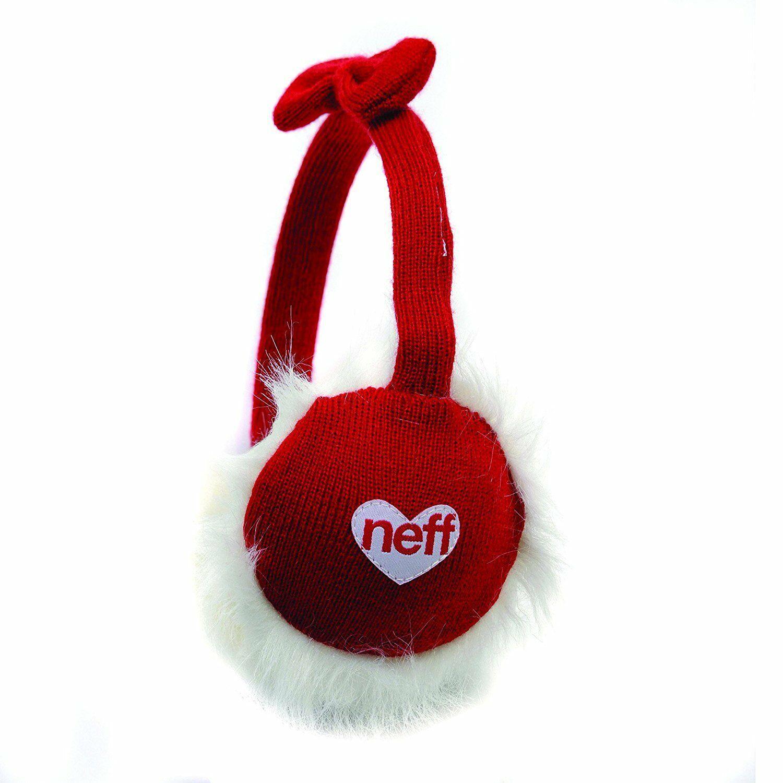 Neff Punto Navidad Santa Lazo Rojo Diadema Orejeras Oído Calentadores F11226 Nwt