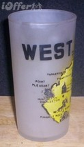 1960'S Retro Hazel ATLAS-- Frosted Souvenir West Virginia Glass Tumbler - $14.95