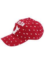 True Religion Men's All Over Monogram Pattern Cap Sport Strapback Baseball Hat image 4