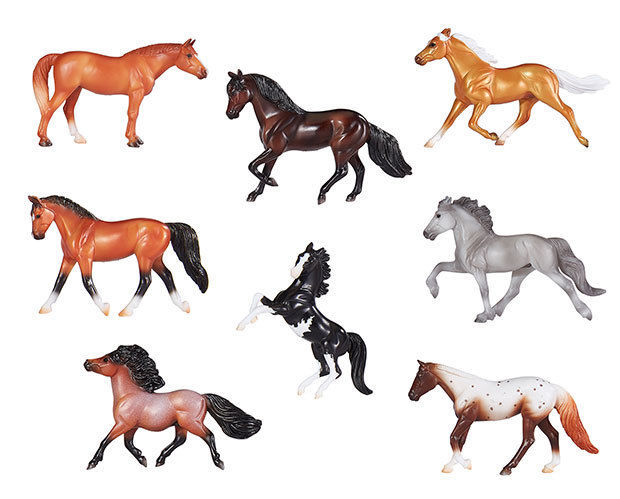 <><  Breyer Stablemate 1/32 Lot of a set of all  8 of the  2018 releases NIP - $34.34