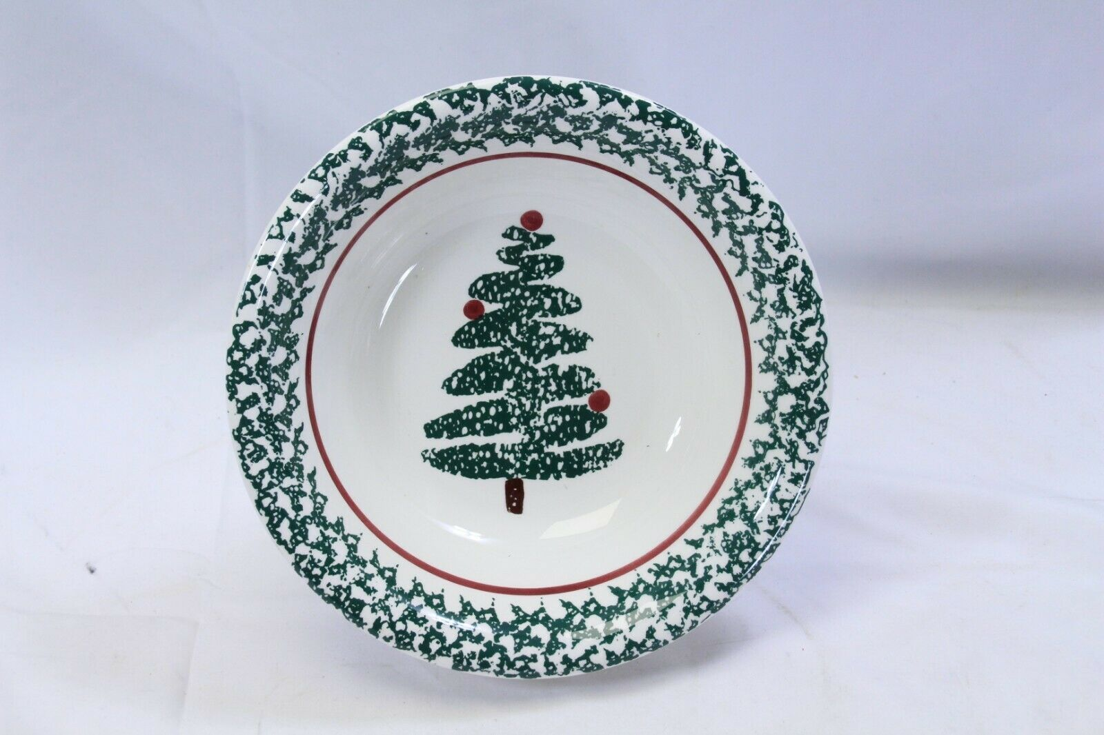 "Furio Xmas Tree Soup Bowls 8.125"" Lot of 4 Made in Italy image 2"