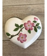 Franciscan Desert Rose Heart Shaped Candy Trinket Dish Lid Wedgwood Exce... - $39.59