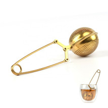 Stainless Steel Spoon Tea Leaves Herb Mesh Ball Infuser Filter Squeeze Strainer - $8.42
