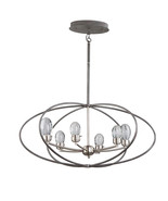 Artcraft Lighting AC7456 Chandeliers Slate and Brushed Nickel Metal King... - $1,117.00