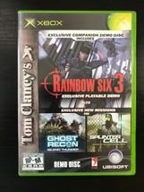 Tom Clancy's Rainbow Six 3 DEMO Microsoft Xbox Game Disc w/ Case - $4.99