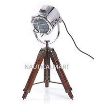NAUTICALMART VINTAGE NICKEL FINISH TABLE TRIPOD LAMP - $82.76