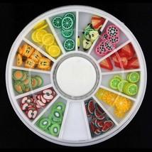 Gam-Belle® 3D Polymer Clay Tiny Slice Fruit Wheel Nail Art DIY Design De... - $2.16