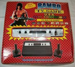 NEW NIB NOS Rambo TV Games Atari 2600 Clone legendary game console 128 Games #06 - $180.00
