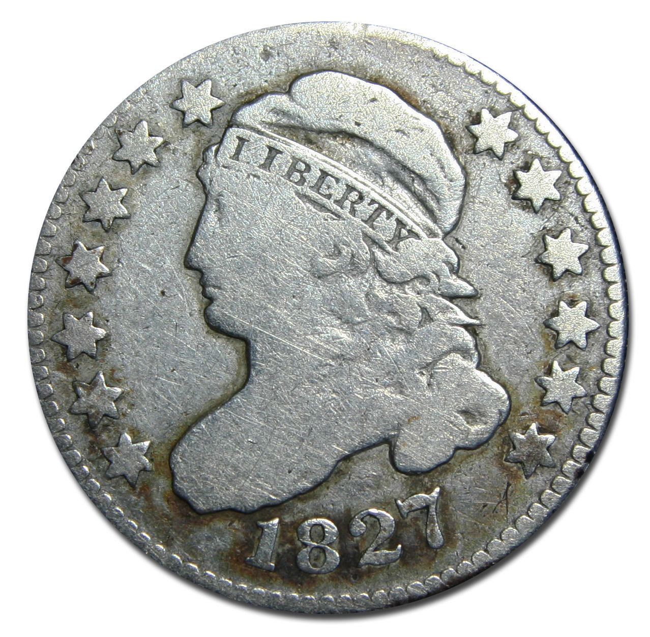 1827 Capped Bust Dime 10¢ Coin Lot# MZ 2954