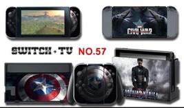 Vinyl Decal Skin Sticker Protector for Nintendo Switch Captain America AU Seller - $10.07