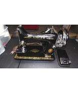 VINTAGE SINGER SEWING MACHINE EG 819210 W/LIGHT AND FOOT PEDAL WORKS GREAT - $168.25
