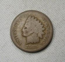 1868 Indian Head Cent Coin AG770 - $31.87