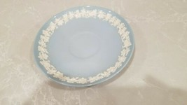 Vintage Wedgwood Queensware Saucer Plate Cream on Blue - $15.83