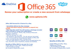 Office 365 activate or renew from whatsapp for ... - $24.19