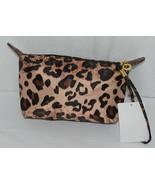 J Brand HM1006LP Leopard Print Zipper Makeup Bag Carrying Strap - $10.00