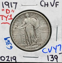 1917D Type 1 Standing Liberty Silver Quarter Coin Lot CV47
