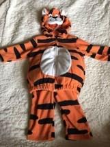 NEW Carters Orange Black Tiger Fleece 2 Piece Halloween Costume 3-6 Months - $16.93