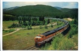 California Zephyr Vista Dome Streamliner Railroad Train 1965 postcard - $5.89